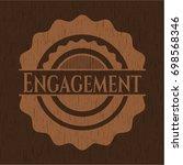 engagement wood emblem. vintage. | Shutterstock .eps vector #698568346