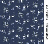 floral seamless pattern  in... | Shutterstock .eps vector #698568445
