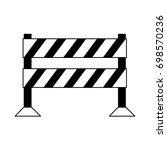 striped roadblock icon image  | Shutterstock .eps vector #698570236