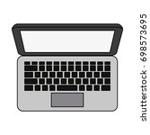 laptop computer icon image  | Shutterstock .eps vector #698573695