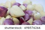 onion and garlic texture...   Shutterstock . vector #698576266