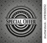 special offer black emblem.... | Shutterstock .eps vector #698583052