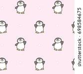 seamless pattern of cute... | Shutterstock .eps vector #698584675