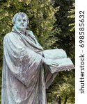Small photo of A statue of the reformer Martin Luther ( Germany )
