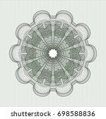 green rosette | Shutterstock .eps vector #698588836