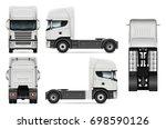 white truck vector template for ... | Shutterstock .eps vector #698590126