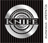knife silvery emblem or badge | Shutterstock .eps vector #698596726
