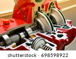engine pump water exploded view ... | Shutterstock . vector #698598922