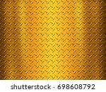 metal plate background | Shutterstock . vector #698608792