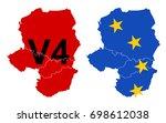 hungary  czech republic  poland ... | Shutterstock .eps vector #698612038