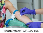 cropped image of nurse... | Shutterstock . vector #698629156