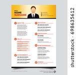 clean modern design template of ... | Shutterstock .eps vector #698635612