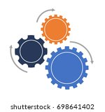 three part gears infographic | Shutterstock .eps vector #698641402
