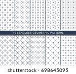 seamless geometric pattern set  ... | Shutterstock .eps vector #698645095