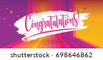 congratulations card.... | Shutterstock .eps vector #698646862