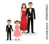 male and female couple and two... | Shutterstock . vector #698649862