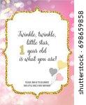 first birthday invitation for... | Shutterstock .eps vector #698659858