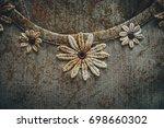 flower detail on t shirt   Shutterstock . vector #698660302