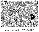 hand draw love element | Shutterstock .eps vector #69866404