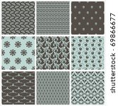 collection of seamless textile... | Shutterstock .eps vector #69866677