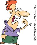 cartoon man who is angry and... | Shutterstock .eps vector #698666782