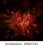 Heart In Love Broken Into Pieces