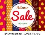 sale. autumn. | Shutterstock .eps vector #698674792