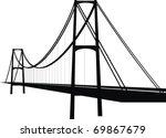 vector suspension cable bridge  ... | Shutterstock .eps vector #69867679