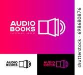 audio book logo. the book icon...   Shutterstock .eps vector #698680876