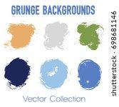 green  orange and blue paint... | Shutterstock .eps vector #698681146