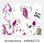 hand drawn creative tags.... | Shutterstock .eps vector #698682772