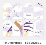 hand drawn creative tags.... | Shutterstock .eps vector #698682832