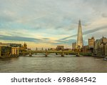 london skyline and the river... | Shutterstock . vector #698684542