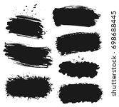 grunge ink brush strokes  ... | Shutterstock .eps vector #698688445
