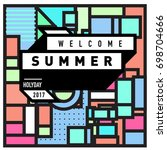 abstract geometric summer...   Shutterstock .eps vector #698704666