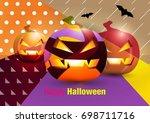 halloween. | Shutterstock .eps vector #698711716