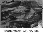 black and white abstract... | Shutterstock . vector #698727736