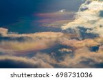 sky beautiful colorful clouds... | Shutterstock . vector #698731036