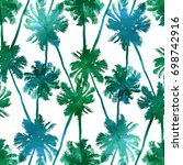 tropical background seamless... | Shutterstock .eps vector #698742916