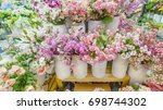 colorful flora and other... | Shutterstock . vector #698744302