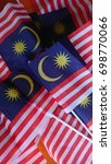 malaysian flags for independent ...   Shutterstock . vector #698770066