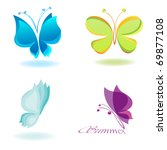Stock vector vector butterfly 69877108