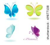Stock vector vector butterfly 69877108