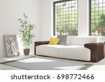 idea of white room with sofa... | Shutterstock . vector #698772466