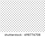 black polka dots on white... | Shutterstock . vector #698776708