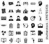 conformity in work icons set.... | Shutterstock .eps vector #698781436