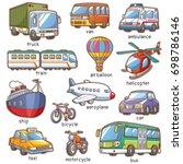 vector illustration of cartoon...   Shutterstock .eps vector #698786146