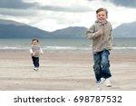 Little Boy And A Girl On Irish...