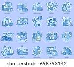 euro conceptual design | Shutterstock .eps vector #698793142