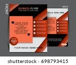 business brochure template....   Shutterstock .eps vector #698793415